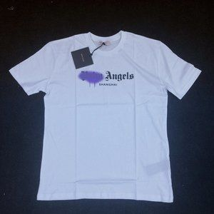 Palm Angels Men White Short Sleeve T-Shirt